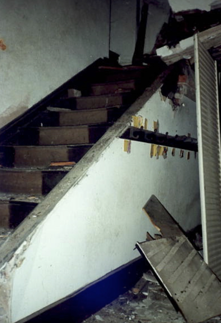 An Artful Gardener Astley Old Vicarage staircase broken and ruined after architectural thieves broke in